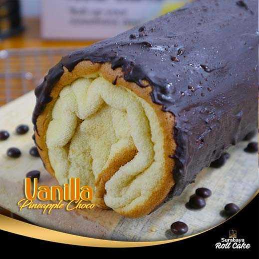 Cake Vanilla Pineapple Choco Ganache