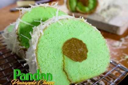 Cake Pandan Pineapple Cheese