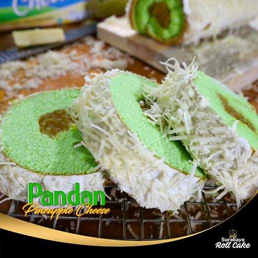 Cake Pandan Pineapple Cheese