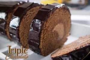 Oleh Oleh Surabaya Roll Cake Triple choco