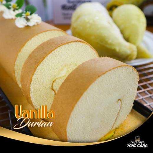 Oleh oleh Khas Roll Cake Vanilla Durian