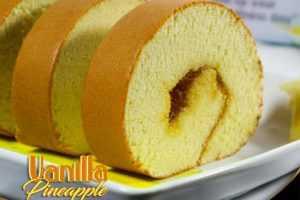 Oleh Oleh Khas Surabaya Roll Cake Vanilla Pineapple