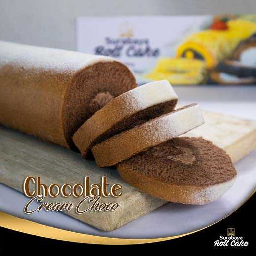 Oleh Oleh Khas Surabaya Roll Cake Chocolate Cream Choco