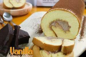 Oleh Oleh Khas Surabaya Roll Cake Vanilla Cream Choco