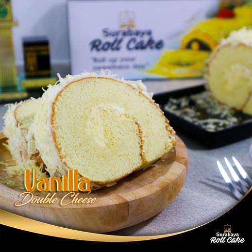 Oleh Oleh Khas Surabaya Roll Cake Vanilla Double Cheese