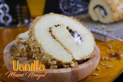 Oleh Oleh Khas Surabaya Roll Cake Vanilla Meises Nougat