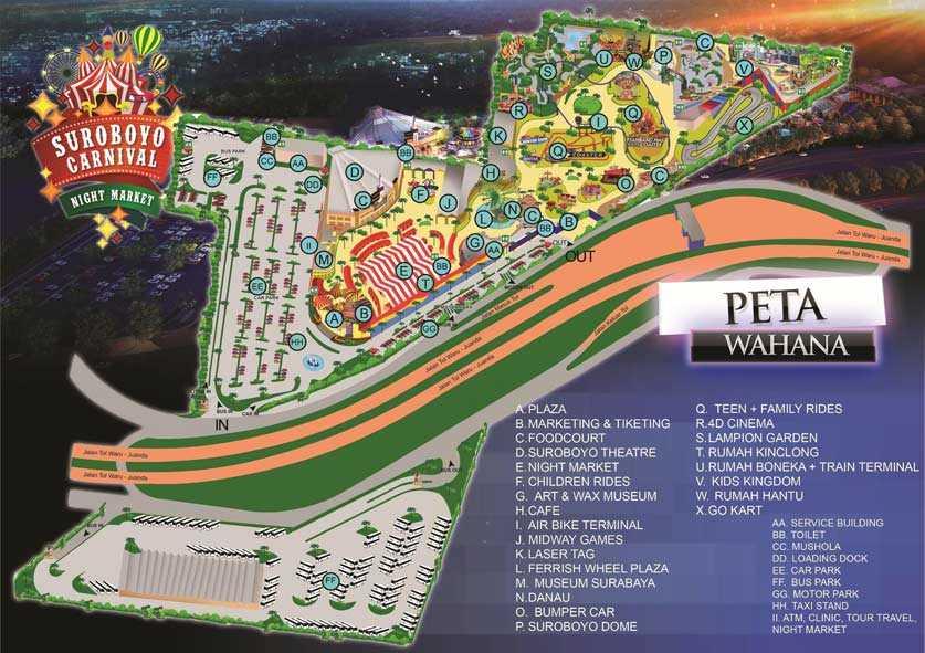 Peta Petunjuk Surabaya Carnival Park