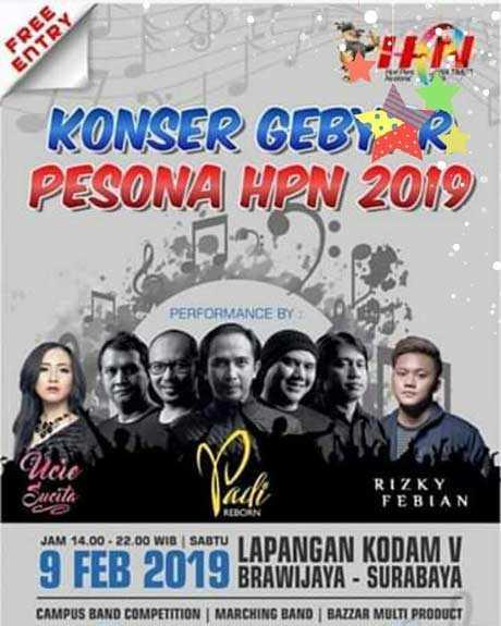 Konser Gebyar Pesona HPN 2019